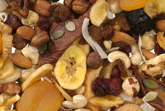 Nuts and Dried fruits collection Stock Image
