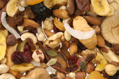 Nuts and Dried fruits collection Royalty Free Stock Photos