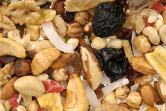 Nuts and Dried fruits collection Royalty Free Stock Images