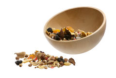 Nuts and Dried fruits collection Stock Photos