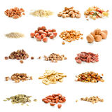 Nuts and dried fruits Stock Image