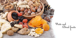 Nuts and dried fruits Royalty Free Stock Photo