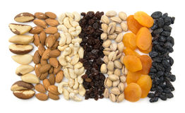 Nuts and dried fruits Royalty Free Stock Photos