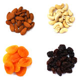 Nuts and dry fruits stock images
