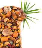 Nuts and dry fruits mix Royalty Free Stock Images
