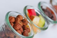 Nuts and dry fruits mix Stock Image