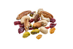 Nuts and dry fruits Stock Photos