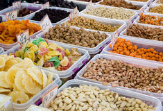Nuts and dry fruits for sale Stock Image