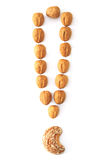 Nuts exclamation mark Stock Images