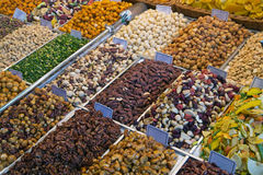 Nuts at the farmers market Royalty Free Stock Photos
