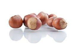 Nuts filberts Stock Photo