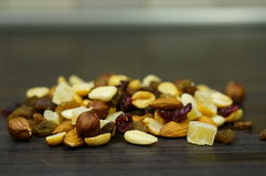 Nuts and fruit Stock Photo