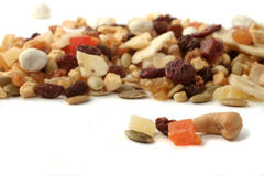 Nuts and fruits Royalty Free Stock Images