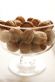 Nuts. In a glass centerpieces Stock Photography