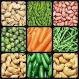 nuts grönsaker Arkivbild