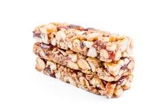 Nuts granola bars Royalty Free Stock Photos