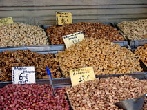 Nuts in a Greek market Stock Images