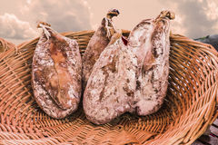 Nuts of ham. In a basket Royalty Free Stock Photo