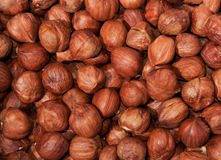 Nuts heap composition background Royalty Free Stock Image
