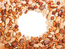 Nuts heap frame Stock Photo