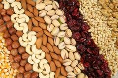 Nuts Hintergrund Stockfoto