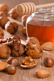 Nuts & Honey Stock Photo