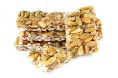 Nuts and honey bar Royalty Free Stock Photography