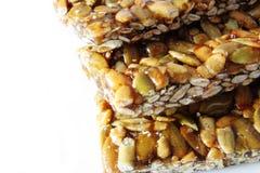 Nuts and honey bar Royalty Free Stock Image