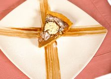 Nuts and honey cake Royalty Free Stock Photography