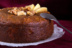 Nuts  and honey cake, selective focus Stock Photography