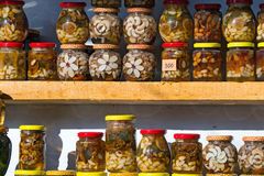 Nuts, honey and jam Royalty Free Stock Image