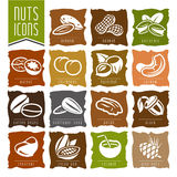 Nuts icon set - 2 Stock Photography