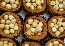 Nuts In Kadaif Basket Royalty Free Stock Photos