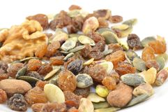 Nuts isolated Royalty Free Stock Photography