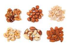 Nuts isolated on white Royalty Free Stock Photos
