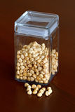 Nuts jar -  hazelnut Royalty Free Stock Image