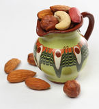 Nuts in the jug Royalty Free Stock Image