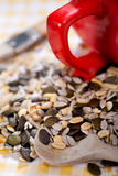 Nuts and kernels Stock Photography