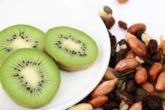 Nuts and kiwi Stock Image
