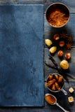 nuts kryddor arkivfoton