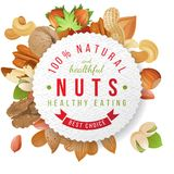 Nuts label with type design Stock Photos