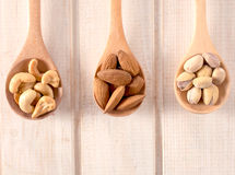 Nuts in the ladle Royalty Free Stock Images