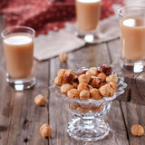 Nuts with liqueur Royalty Free Stock Photos