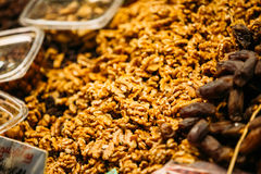Nuts at local grocery market Stock Image