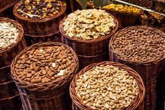 Nuts in local market Stock Photos