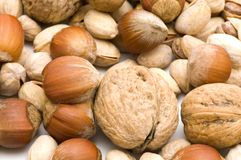 Nuts macro Royalty Free Stock Photos
