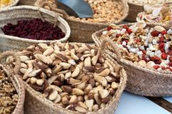 Nuts on market Stock Image