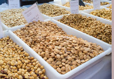 Nuts on the market Royalty Free Stock Photography