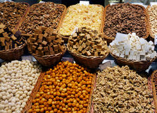 Nuts in the market Stock Image