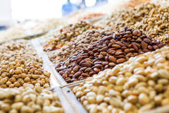 Nuts on the market Stock Photography